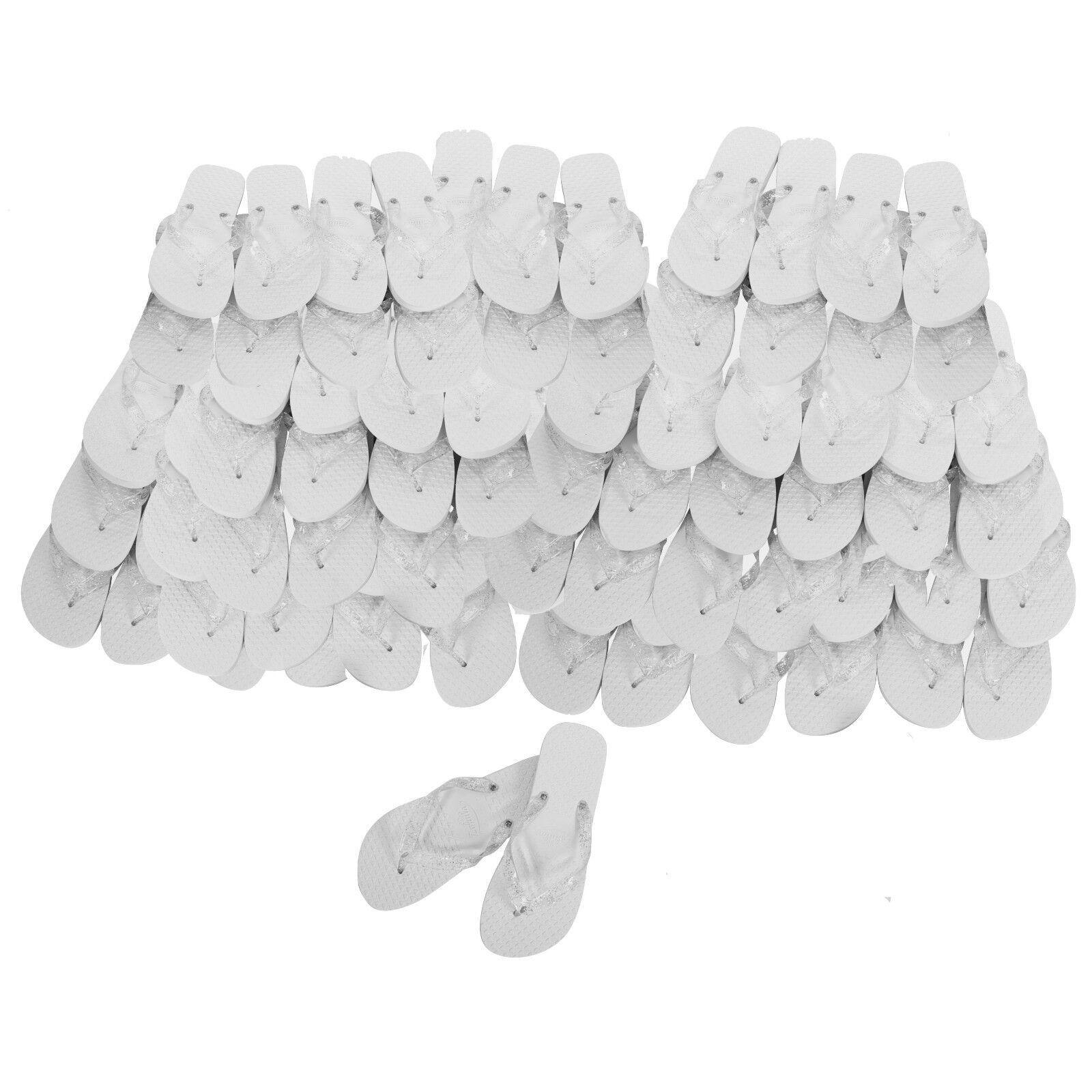 Zohula WEISS Wedding Flip Flops - Bulk Buy 10 - 100 pairs from  pair + lot