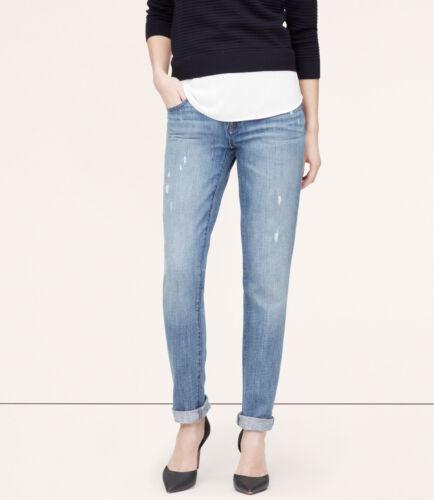 Ann Taylor LOFT Boyfriend Jeans Pants in Surface Blue Wash Size 26//2 27//4 NWT