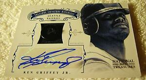 KEN-GRIFFEY-JR-2012-NATIONAL-TREASURES-AUTO-BUTTON-PATCH-46-SER-4-6-MARINERS