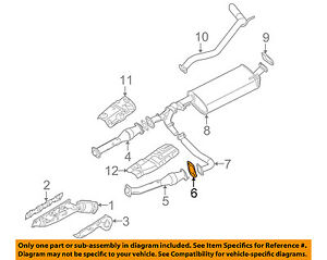 NISSAN OEM Exhaust-Front Pipe Gasket 2069224U0A