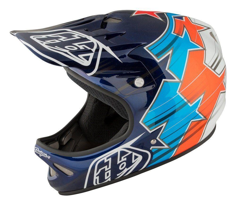 Troy Lee Designs Fusion Adult D2 Bike Sports BMX Helmet - bluee   XLarge 2X