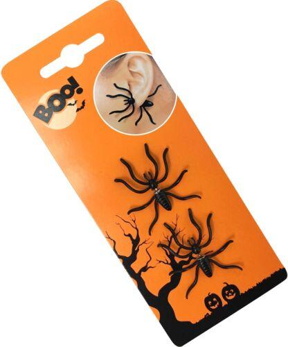 2pc Halloween Spooky spaventoso Ragno Orecchio Anello Costume Insetto Orecchini