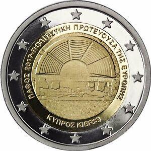 Zypern 2 Euro Münze Kulturhauptstadt Paphos 2017 Gedenkmünze