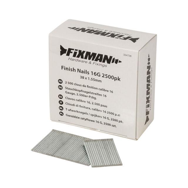Fixman Oberfläche Nägel 16G 2500 Stück 38 X 1.55mm | 334728
