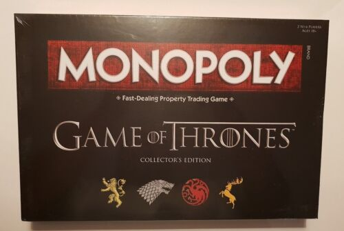 Game of Thrones Monopoly Board Game Official Collectors Edition