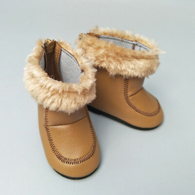 1 Pair doll winter brown boots shoes for 43cm doll and 18 inch dolls gift GX
