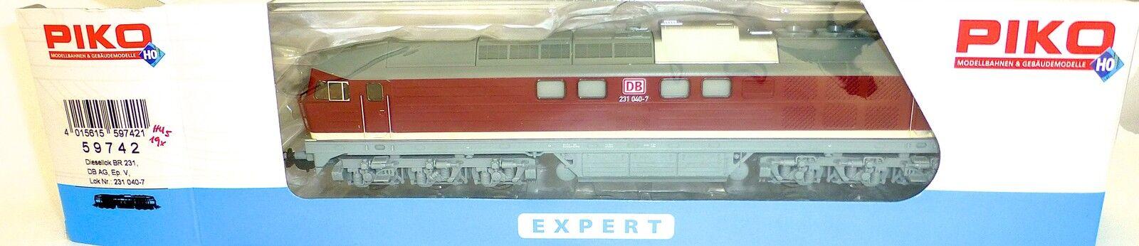 Br 231 Locomotora Diésel Db Ag Epv Dss Piko 59742 H0 1 87 Emb. Orig. Nuevo HU5 Μ