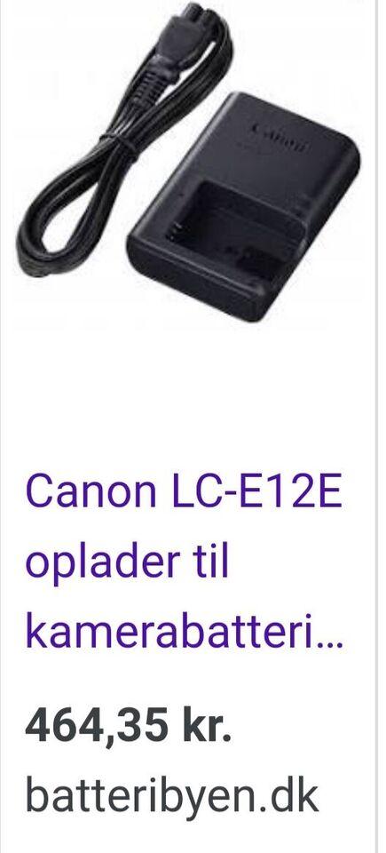 Oplader, Canon, Canon EOS