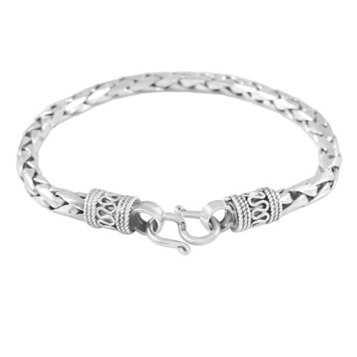 GENUINE 925 STERLING SILVER ROPE LINK CHAIN MEN'S BRACELET. IMPRESSIVE 35 GRAMS.