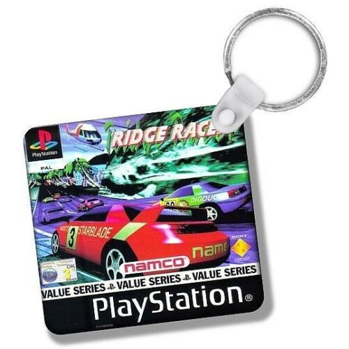 Keyrings 5.7cm Double Sided Gaming PlayStation PSONE PS1 Games Box Art