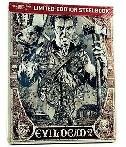 Evil-Dead-2-FYE-Exclusive-Limited-Edition-Steelbook-Blu-Ray-DVD-Digital-New