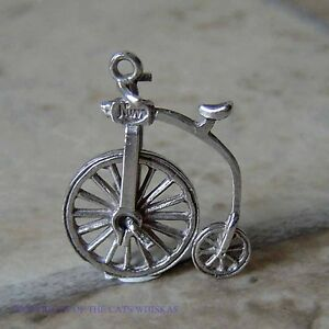 VINTAGE-STERLING-SILVER-NUVO-PENNYFARTHING-WITH-MOVING-WHEEL-CHARM