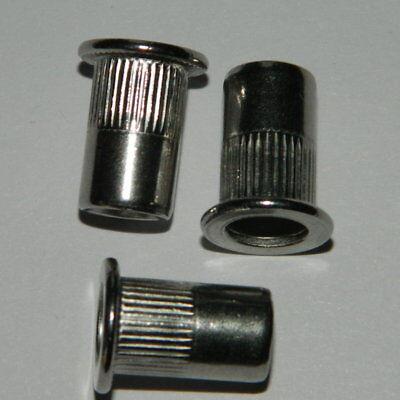 Eisenwaren Ehrlich 50 Stk Business & Industrie Edelstahl A2 Blindnietmutter M6 Flachkopf Gerändelt 0,5-3,0