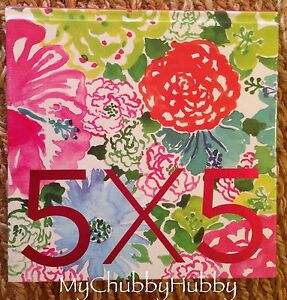 Image Is Loading Nip Lilly Pulitzer Sketch Print Book 5x5 Design