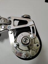 Small Block Chevy 350 Polishing Aluminum Power Steering Bracket Long Water Pump
