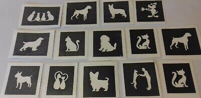 30 x flower theme mini stencils for etching on glass hobby craft gift etch