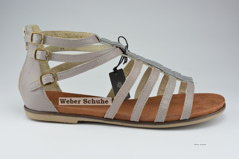 Bugatti chaussures femmes sandale véritable cuir glissière gris taupe