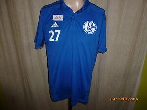 FC-Schalke-04-Original-Adidas-Spieler-Polo-Hemd-2014-15-Nr-27-Gr-M-TOP