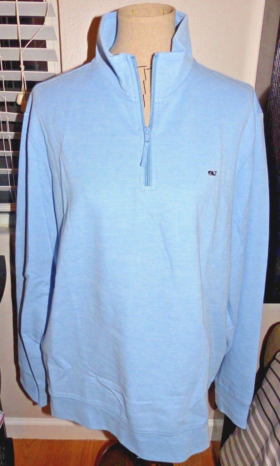 VINEYARD VINES Men's Broadfield 1 4 Zip Long Sleeve Shirt  OCEAN BREEZE LG NWT