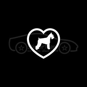 SCHNAUZER-Sticker-Heart-Love-Dog-Puppy-Decal-Cute-Pure-Bred-German-Mustache-Mini