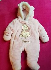 NWT DISNEY BABY WHINNIE THE POOH GIRLS 3-6 MTH ONE-PIECE HOOD SNOWSUIT JUMPER