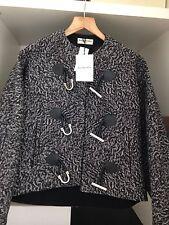 Balenciaga da donna DESIGNER STAMPA TWEED giacca nuova con etichetta taglia S