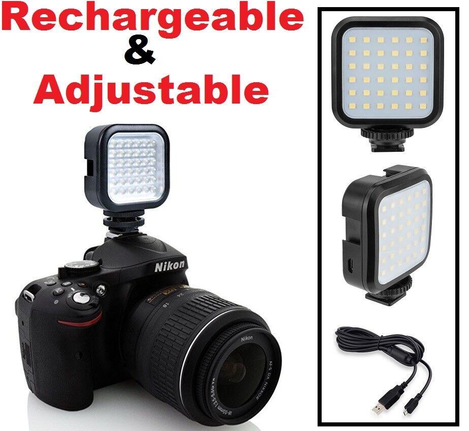 Rechargeable Pro LED Light Kit For Olympus OM-D E-M1 E-M5 SP-100 E-M10 Mark II