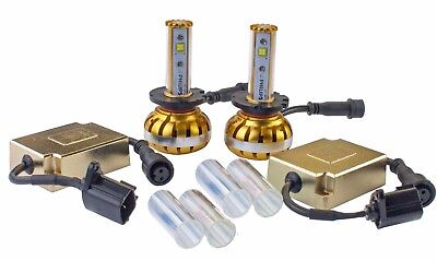 H3 QUAD SIDED 4800LM 60W COB LED headlight Kit 5K 6K 8K  XENON White High Power
