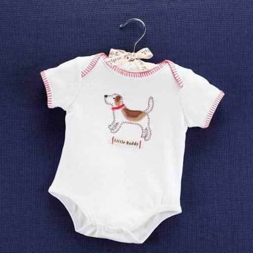 Mud Pie Baby LITTLE BUDDY PUPPY CRAWLER 1032108-06