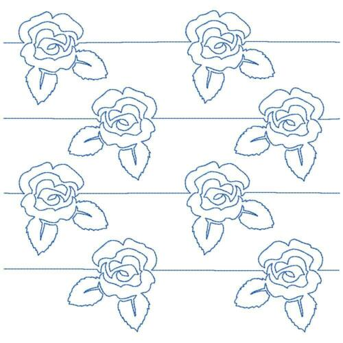 Free Motion Flowers 10 Machine Embroidery Designs CD in 8 sizes