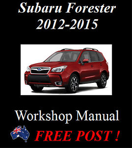 subaru forester sj 2012 2015 workshop service repair manual on cd rh ebay com au 1999 Subaru Forester Manual 2017 Subaru Forester Interior