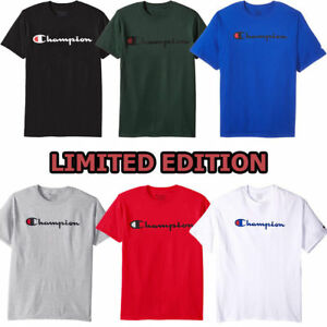 Champion-Men-039-s-Classic-Jersey-Script-T-Shirt-Limited-Edition-GT280-S-XL