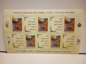Francobolli Emissione Comgiunta San Marino Vaticano Foglietto 2009 Nuovo MNH