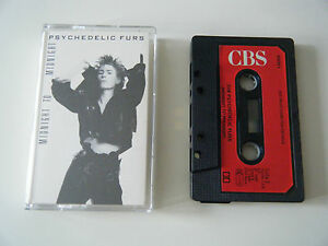 PSYCHEDELIC FURS MIDNIGHT TO MIDNIGHT CASSETTE TAPE 1987 RED PAPER LABEL CBS UK