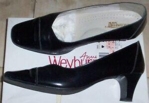 grossiste vente chaude réel moderne et élégant à la mode Détails sur Chaussures escarpins Pédiconfort cuir bout verni femme noires  taille pointure 40