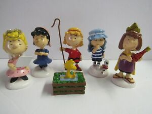 6 Replacement Figures For Dept 56 Peanuts Christmas Pageant Nativity 802162