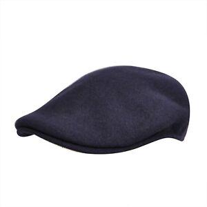 KANGOL Hat 504 Wool Flat Cap 0258BC Winter Navy Atlantis Sizes  S ... ba67cfcf0b35