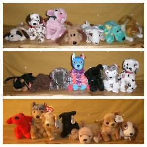Ty Retired Dogs Beanie Babies Choice Tagged Swing Tush 21 Available FREE SHIP