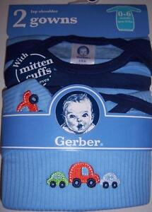 2 Pack Boy's Lap Shoulder Gowns, Baby Shower, 0-6 Months, Cars