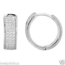Diamonique CZ Micro Pave Round Stud Earrings Anti-Tarnish 925 Sterling Silver