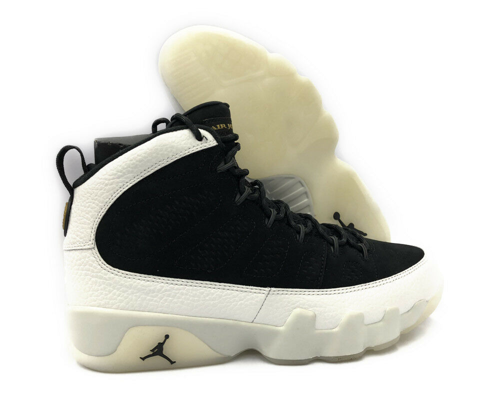 302370-021 Air Jordan 9 Retro (Summit White   Black) Men Sneakers