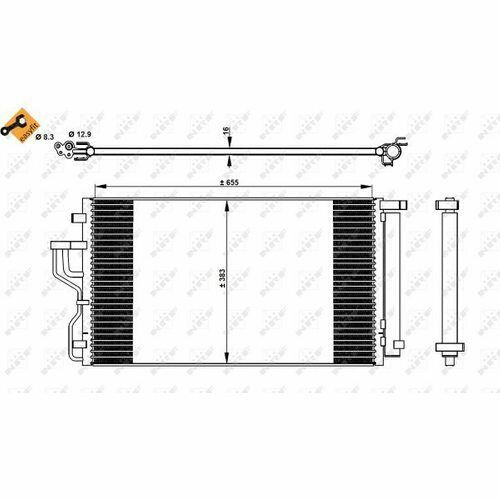 NRF Kondensator Klimaanlage Klimakondensator Klimakühler 35618