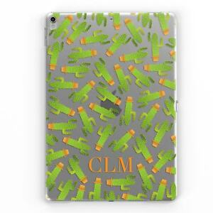Cactus-Personalizado-Monograma-Claro-Personalizado-Transparente-Cubierta-de-Estuche-para-Apple-iPad