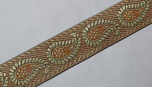 "01 Yd Jacquard Trim 1.40/"" wide Woven Border Sew Ribbon T695"
