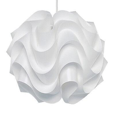 Modern White Curvy Retro Style Ceiling Pendant Light Shade Lampshade