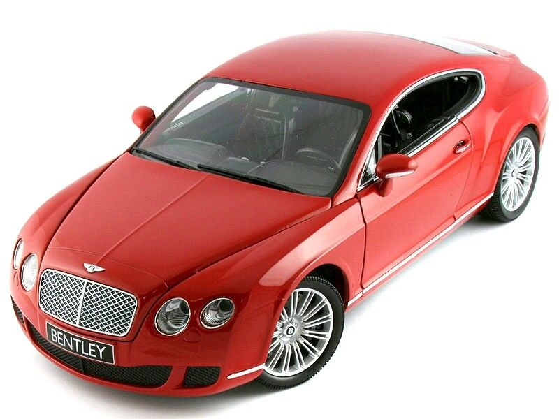 Scale model 1 18 BENTLEY CONTINENTAL GT RED 2008 2008 2008 ae6589