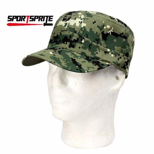 Military Men Patrol Fatique Army Cadet Flat Top Combat BDU Cap Caps Hat Hats