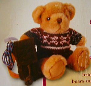 The-Teddy-Bear-Collection-Henry-the-Hiker-New-Sealed-wih-Magazine-Plush-Soft-Toy