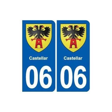 06 Castellar Blason Ville Autocollant Plaque Stickers Crazy Prijs