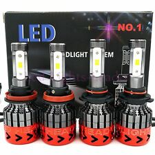 9005 H11 Total 540W 54000LM CREE LED Headlight High Low Beam Combo Kit 6000K